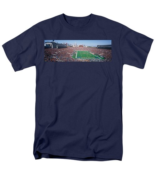 Football, Soldier Field, Chicago Men's T-Shirt  (Regular Fit) by Panoramic Images