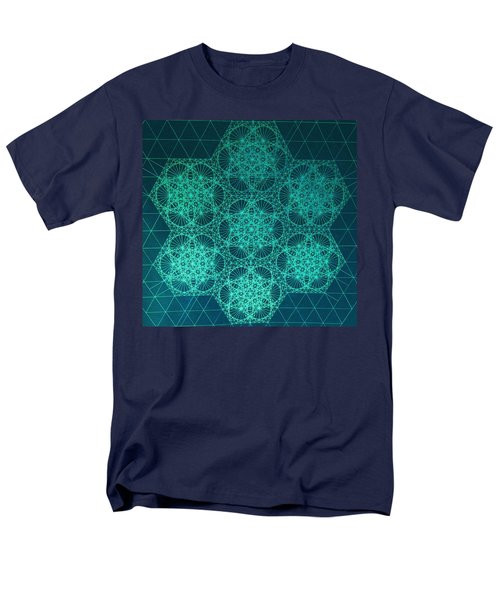Men's T-Shirt  (Regular Fit) featuring the drawing Fractal Interference by Jason Padgett
