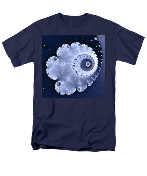 Fractal Spiral Light And Dark Blue Colors Men's T-Shirt  (Regular Fit)
