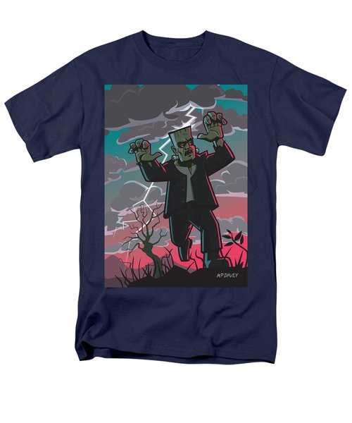 Frankenstein Creature In Storm  Men's T-Shirt  (Regular Fit) by Martin Davey