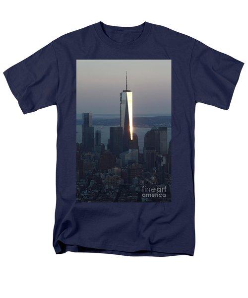 Freedom Tower Men's T-Shirt  (Regular Fit) by John Telfer