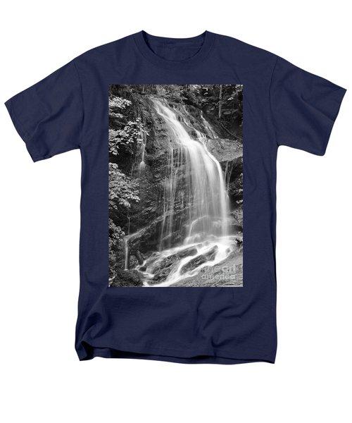 Fuller Falls Waterfall Black And White Men's T-Shirt  (Regular Fit) by Glenn Gordon
