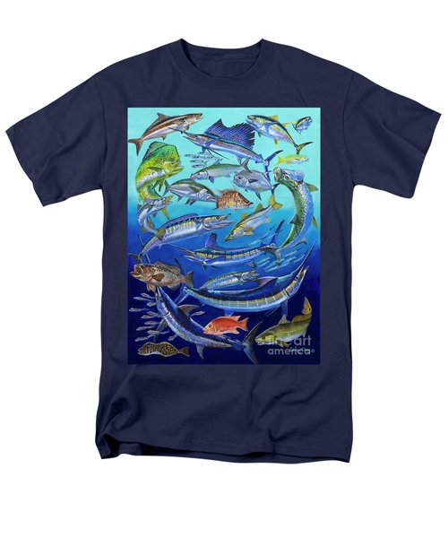 Gamefish Collage In0031 Men's T-Shirt  (Regular Fit) by Carey Chen