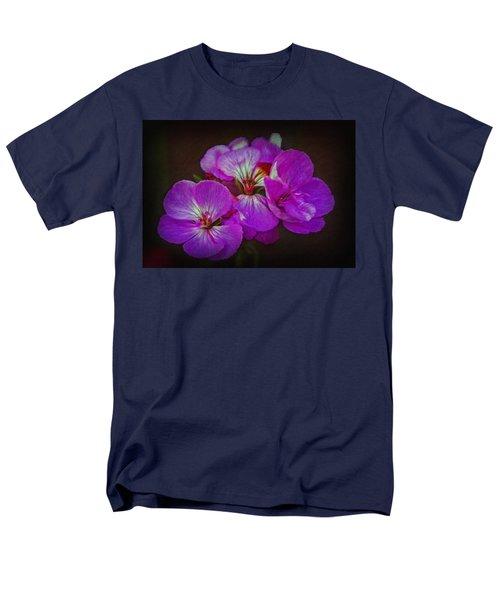 Men's T-Shirt  (Regular Fit) featuring the photograph Geranium Blossom by Hanny Heim