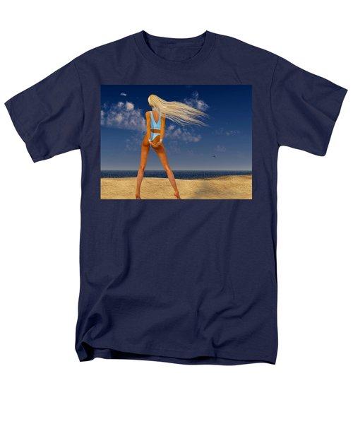 Girl On The Beach... Men's T-Shirt  (Regular Fit)