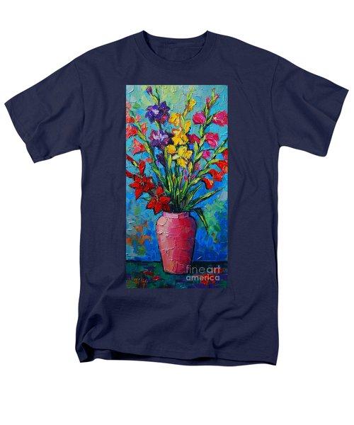 Gladioli In A Vase Men's T-Shirt  (Regular Fit)