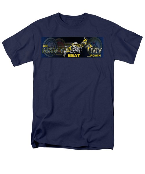 Go Navy Beat Army Men's T-Shirt  (Regular Fit)