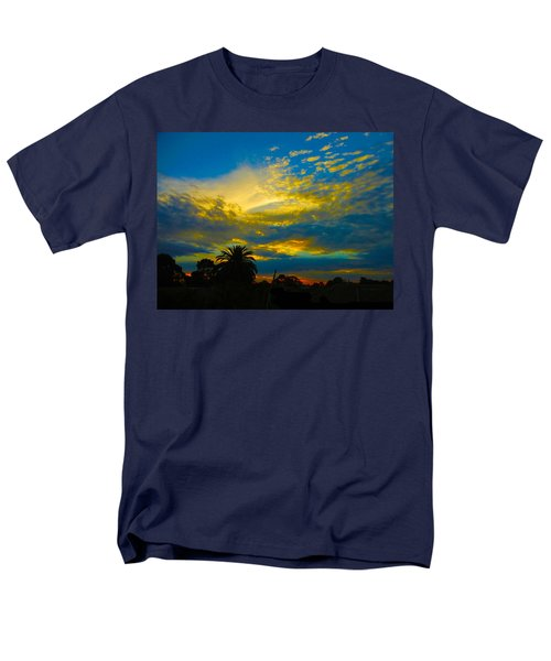 Gold And Blue Sunset Men's T-Shirt  (Regular Fit) by Mark Blauhoefer