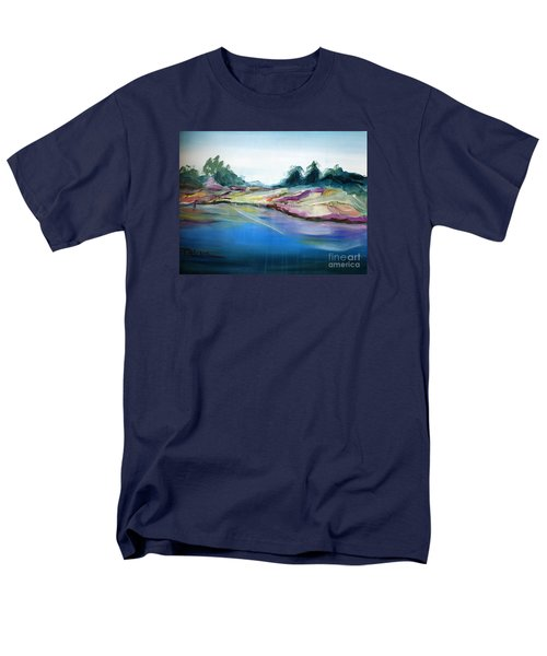 Men's T-Shirt  (Regular Fit) featuring the painting Gowrie Creek Spring by Therese Alcorn
