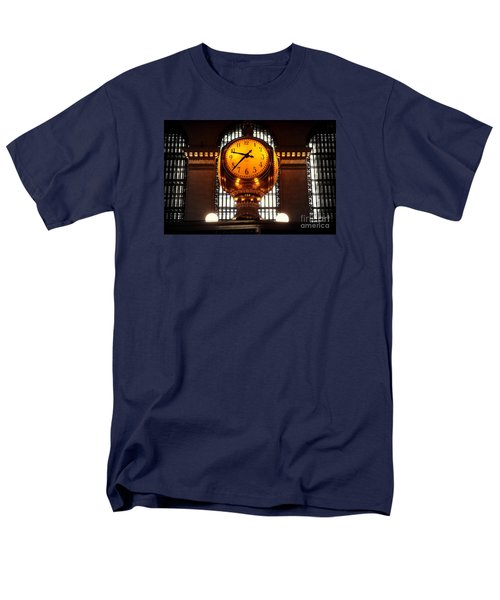Grand Old Clock At Grand Central Station - Front Men's T-Shirt  (Regular Fit) by Miriam Danar