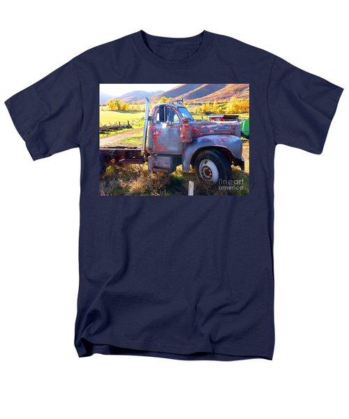 Men's T-Shirt  (Regular Fit) featuring the photograph Grandpa's Mack Truck by Jackie Carpenter