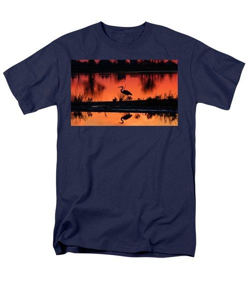 Great Blue Heron At Sunrise Men's T-Shirt  (Regular Fit) by Allan Levin
