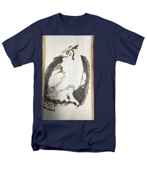 Men's T-Shirt  (Regular Fit) featuring the digital art Great Horned Owl by Terry Frederick