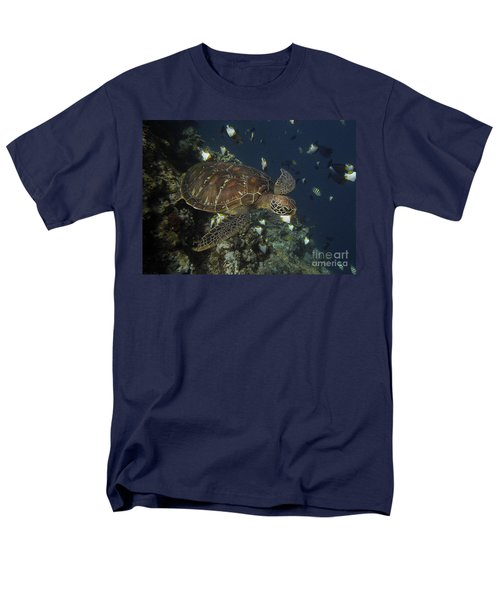 Hawksbill Turtle Men's T-Shirt  (Regular Fit) by Sergey Lukashin