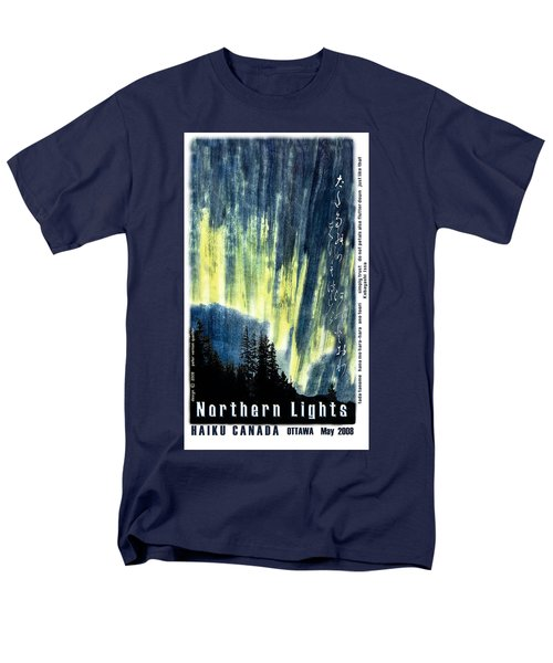 Men's T-Shirt  (Regular Fit) featuring the photograph Haiga Poster Haiku Canada Conference  by Peter v Quenter