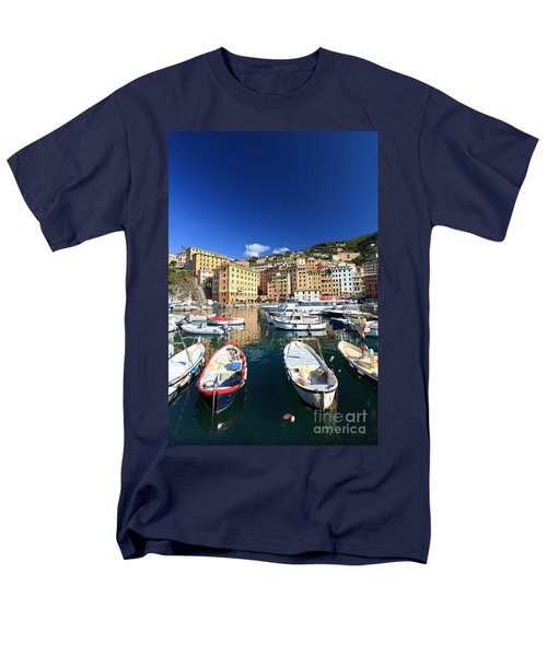 Men's T-Shirt  (Regular Fit) featuring the photograph Harbor With Fishing Boats by Antonio Scarpi