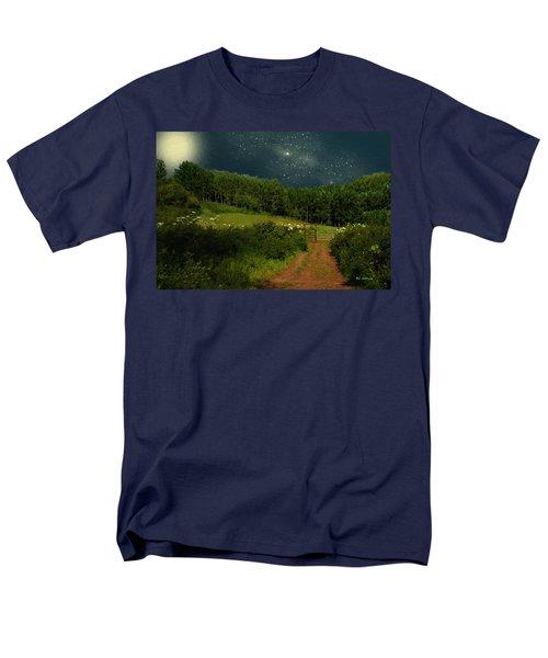 Hazy Moon Meadow Men's T-Shirt  (Regular Fit) by RC deWinter