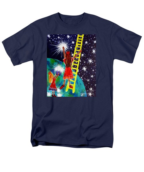 Men's T-Shirt  (Regular Fit) featuring the painting Helping Hands by Jackie Carpenter