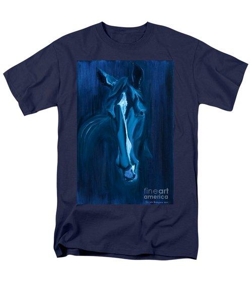 Men's T-Shirt  (Regular Fit) featuring the painting horse - Apple indigo by Go Van Kampen
