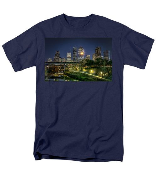 Houston On The Bayou Men's T-Shirt  (Regular Fit) by David Morefield