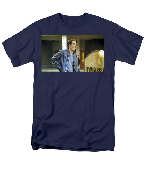 Men's T-Shirt  (Regular Fit) featuring the painting I Love You Babe by Luis Ludzska