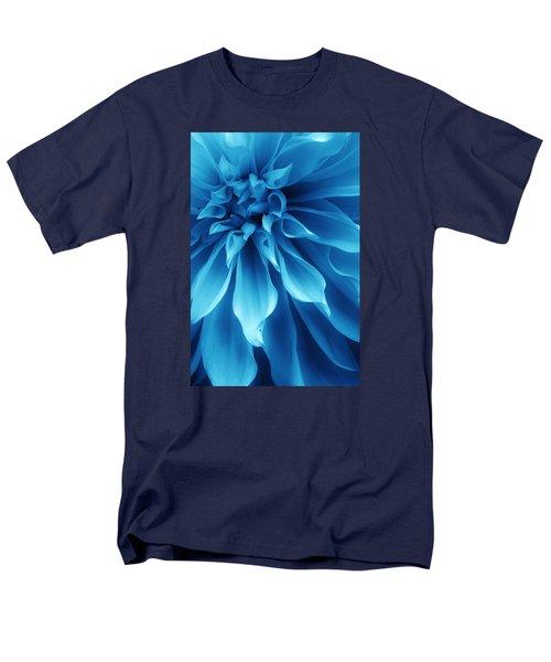 Ice Blue Dahlia Men's T-Shirt  (Regular Fit) by Bruce Bley