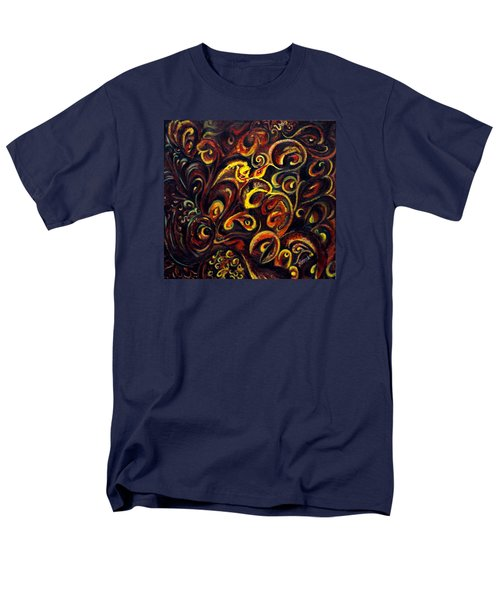 Men's T-Shirt  (Regular Fit) featuring the painting In Search Of  Ultimate Truth by Harsh Malik