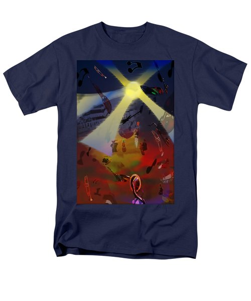 Men's T-Shirt  (Regular Fit) featuring the digital art Jazz Fest II by Cathy Anderson