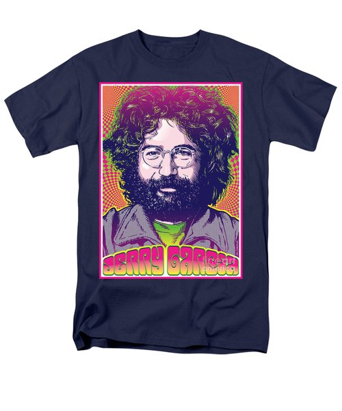 Jerry Garcia Pop Art Men's T-Shirt  (Regular Fit) by Jim Zahniser