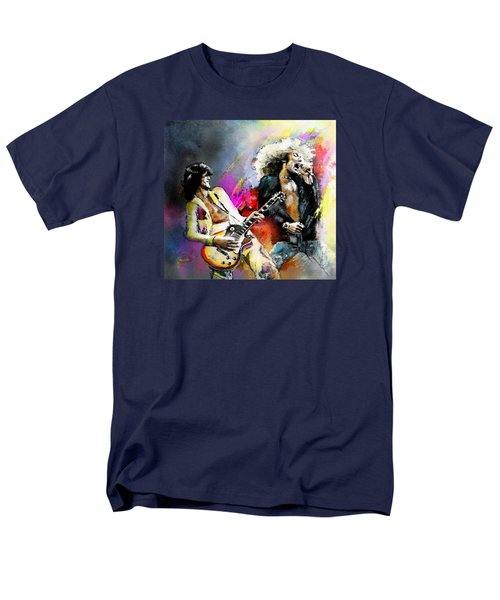 Jimmy Page And Robert Plant Led Zeppelin Men's T-Shirt  (Regular Fit) by Miki De Goodaboom