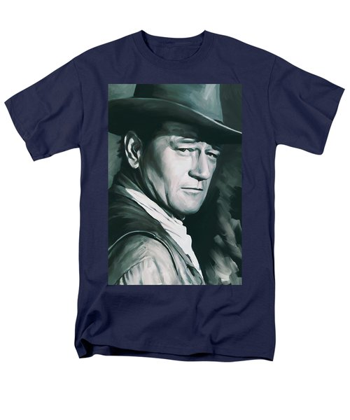 John Wayne Artwork Men's T-Shirt  (Regular Fit) by Sheraz A