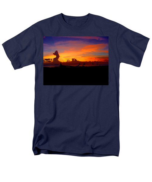 Men's T-Shirt  (Regular Fit) featuring the photograph Key West Sun Set by Iconic Images Art Gallery David Pucciarelli
