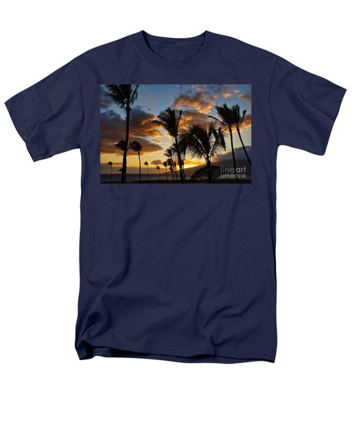 Men's T-Shirt  (Regular Fit) featuring the photograph Kihei At Dusk by Peggy Hughes
