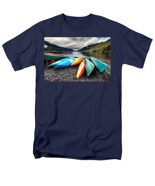 Lake Crescent Kayaks Men's T-Shirt  (Regular Fit) by Ian Good