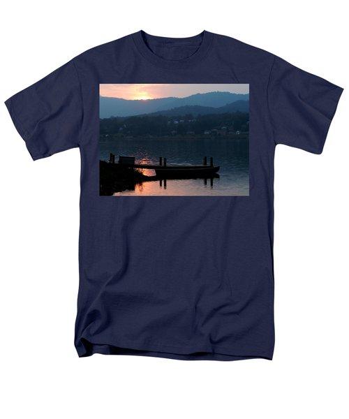 Lake J Sunset Men's T-Shirt  (Regular Fit) by Craig T Burgwardt
