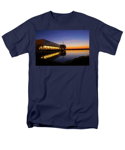 Lakefront Sunrise Men's T-Shirt  (Regular Fit) by Jonah  Anderson