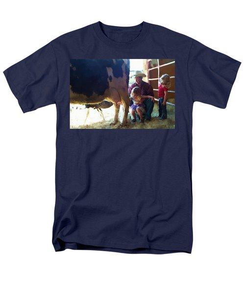 Learning How To Get Milk Men's T-Shirt  (Regular Fit) by Debra Baldwin
