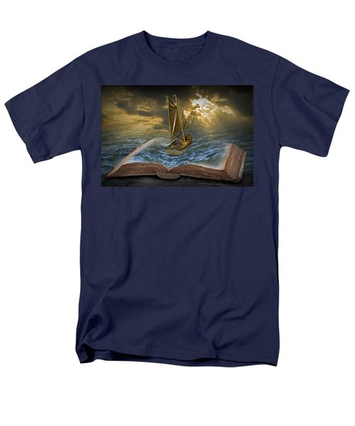 Let The Adventure Begin Men's T-Shirt  (Regular Fit) by Randall Nyhof