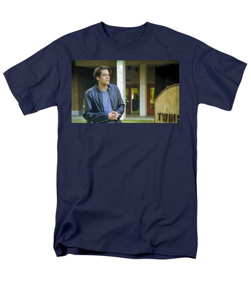 Men's T-Shirt  (Regular Fit) featuring the painting Like The Night When My Girl Went Away by Luis Ludzska