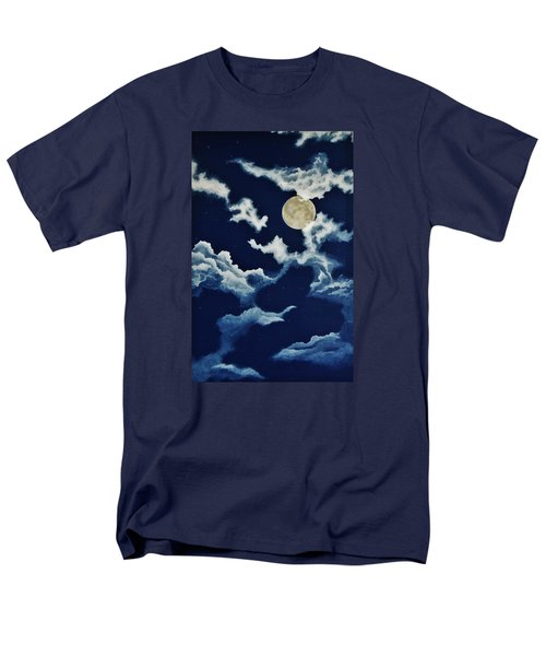 Look At The Moon Men's T-Shirt  (Regular Fit) by Katherine Young-Beck