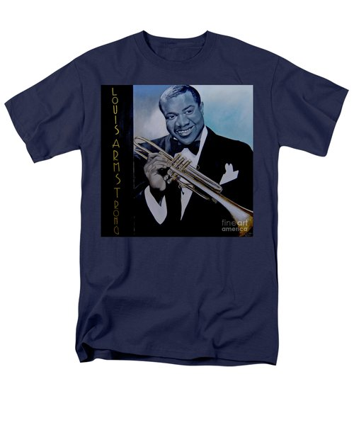 Louis Armstrong Men's T-Shirt  (Regular Fit) by Chelle Brantley