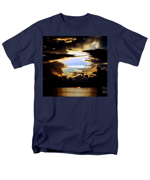 Louisiana Sunset Blue In The Gulf  Of Mexico Men's T-Shirt  (Regular Fit) by Michael Hoard