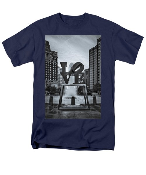 Love Park Bw Men's T-Shirt  (Regular Fit) by Susan Candelario