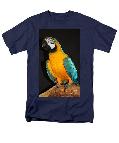 Macaw Hanging Out Men's T-Shirt  (Regular Fit) by John Telfer