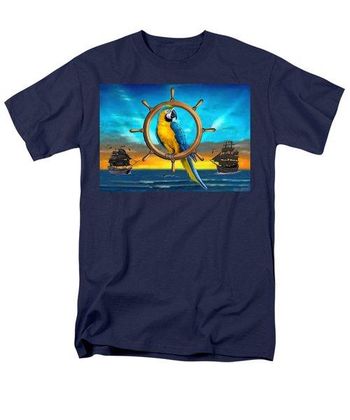 Macaw Pirate Parrot Men's T-Shirt  (Regular Fit) by Glenn Holbrook