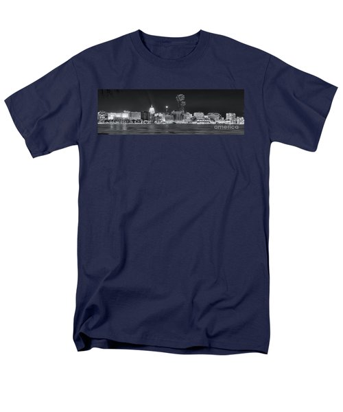 Madison - Wisconsin -  New Years Eve Panorama Black And White Men's T-Shirt  (Regular Fit) by Steven Ralser