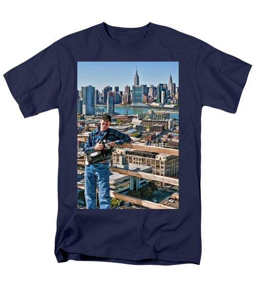 Man At Work Men's T-Shirt  (Regular Fit) by Steve Sahm