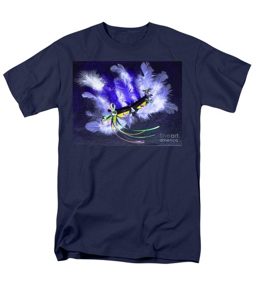 Men's T-Shirt  (Regular Fit) featuring the painting Mardi Gras On Purple by Alys Caviness-Gober