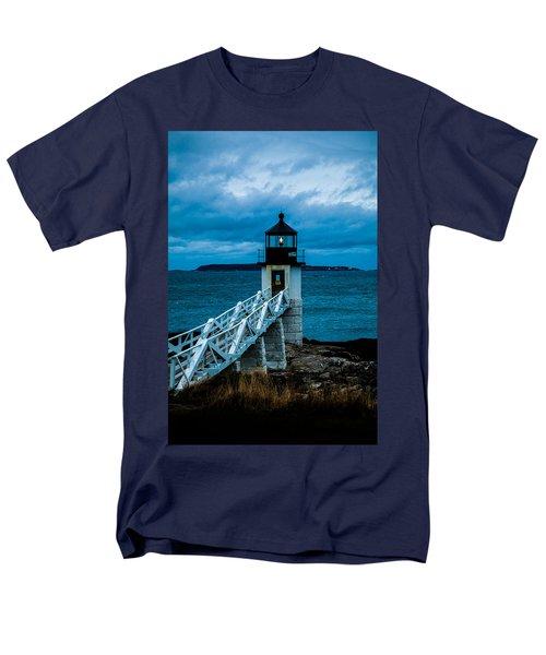 Marshall Point Light At Dusk 1 Men's T-Shirt  (Regular Fit)