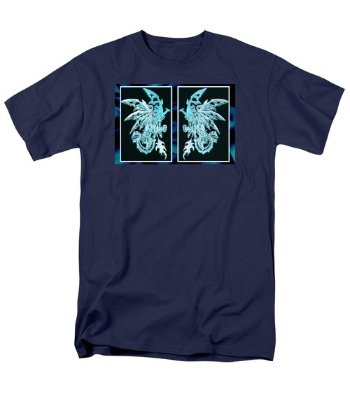 Mech Dragons Diamond Ice Crystals Men's T-Shirt  (Regular Fit) by Shawn Dall